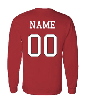 Red Long Sleeve Basketball Jersey Shirt Ravens Team Store